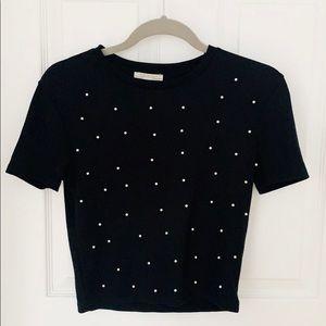 HOST PICK 🎉 Zara Pearl Black T-Shirt